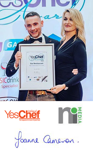 Winners Best Newcomer Ireland YesChef Awards